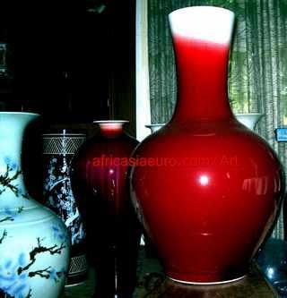 africasiaeuro red porcelain vase